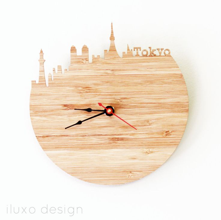 Tokyo Modern Wall Clock by iluxo on Etsy