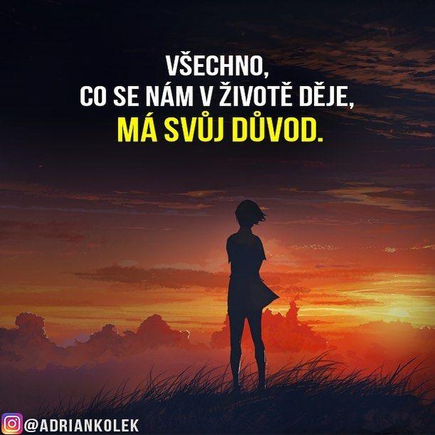 Všechno, co se nám v životě děje, má svůj důvod. #motivace #uspech #motivacia…