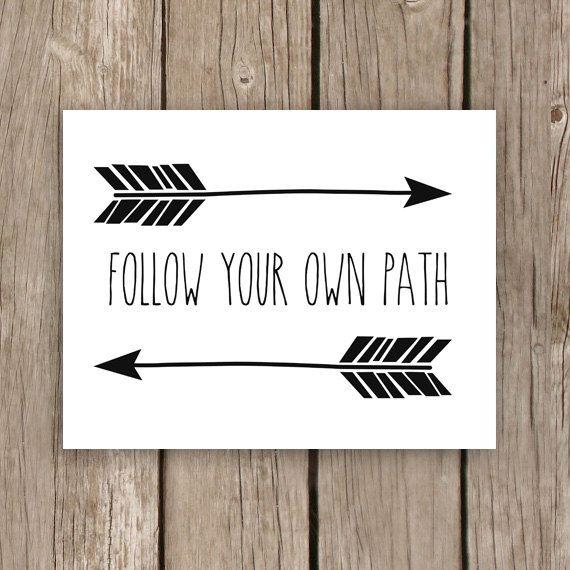 """""""Siga o seu próprio caminho """" ♥"""