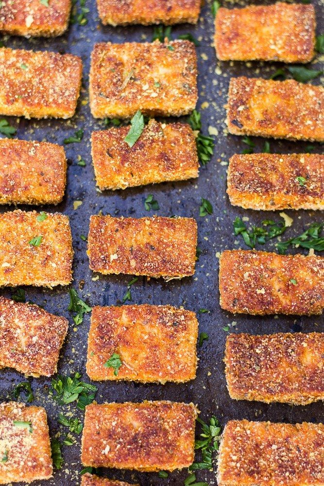 Easy Baked Tofu Nuggets. Vegan/Gluten-free and super crispy!