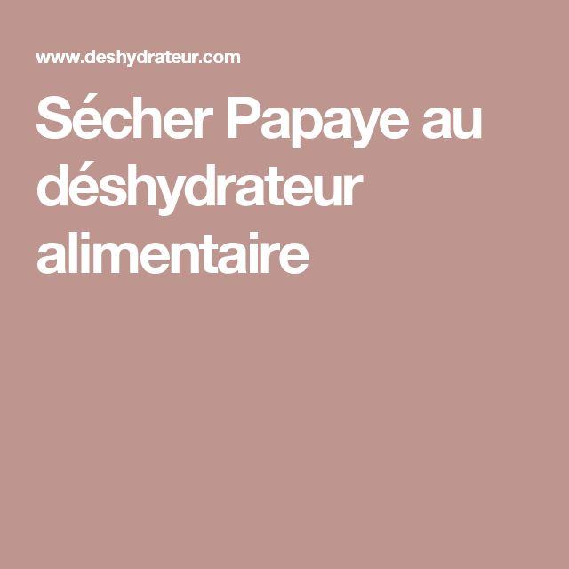 Sécher Papaye au déshydrateur alimentaire