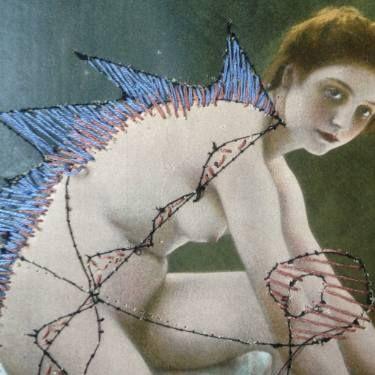 "Saatchi Art Artist Andrea Hauer; Collage, ""Courtois page"" #art"