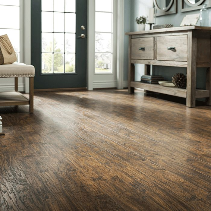 Laminate flooring looks great and stands up to scratches and dents.  Available in a variety