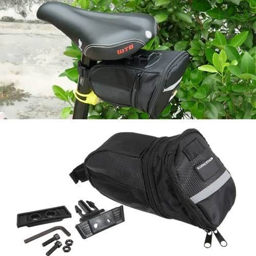 MTB BMX Bicycle Saddle Bag Extendable Portable Back Pack Seat Bag  Worldwide delivery. Original best quality product for 70% of it's real price. Buying this product is extra profitable, because we have good production source. 1 day products dispatch from warehouse. Fast & reliable...