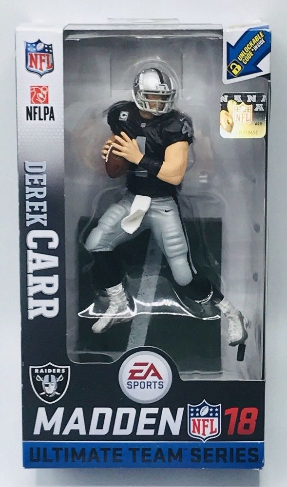 bcd9cc23145 DEREK CARR Oakland Raiders MADDEN NFL 18 Ultimate Team Series 2 McFarlane  Figure  sports  actionfigures  figures