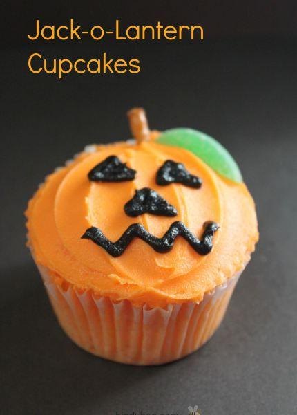 Make Halloween Jack O Lantern Cupcakes -- Spooky Treats -- A Cupcake Addiction How To Tutorial
