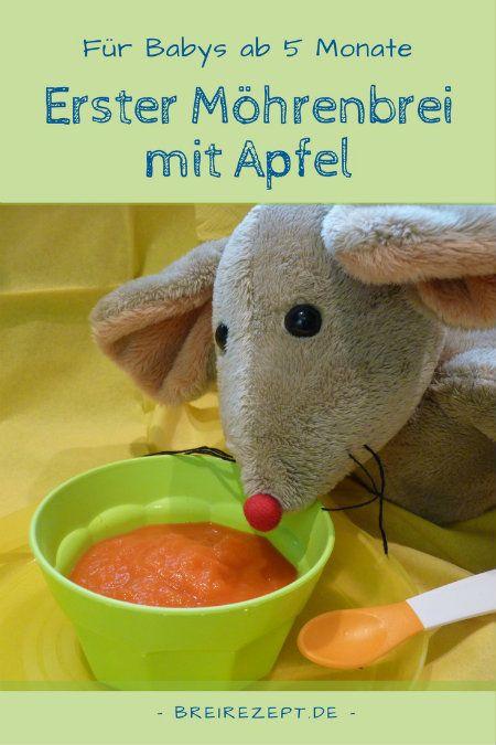 Fruchtiger Karotten- und Kartoffelbrei mit Apfel   – Babybrei Rezepte