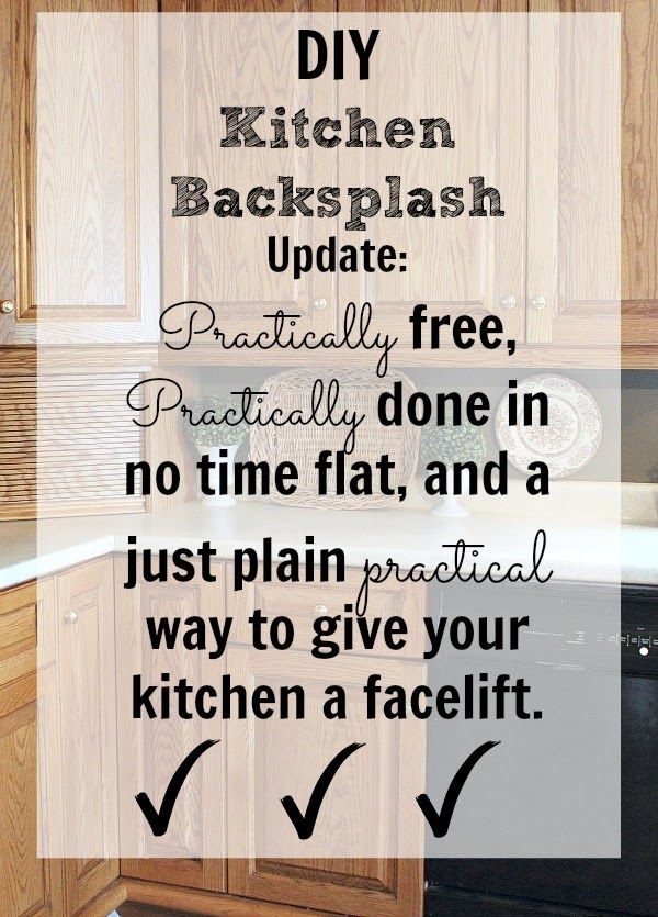 Diy Kitchen Backsplash It Doesn T Get Any Easier Than This
