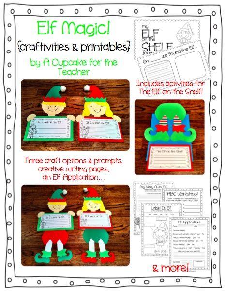 """Elf Magic"" Craftivities & Printables"