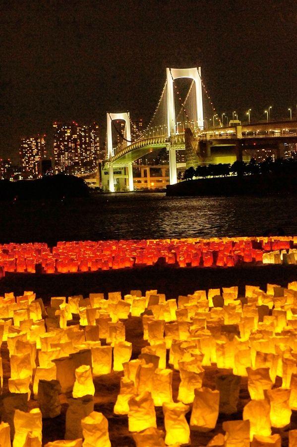 Lantern Festival in Odaiba, Tokyo