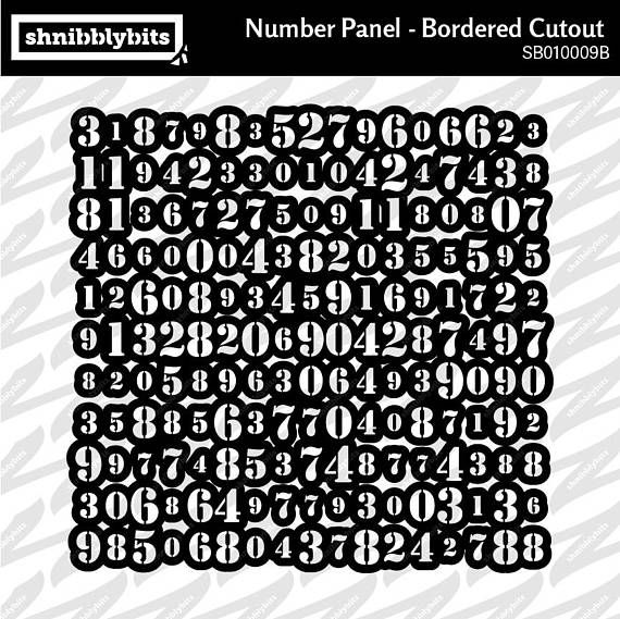 Bordered Number Panel Cutout