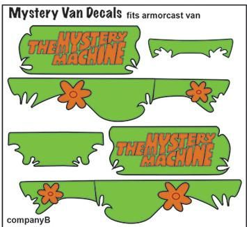 Pop Culture Decal Scooby Doo Armorcast Mystery Machine In