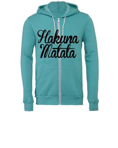 Hakuna Matata mata - Unisex Full-Zip Hooded Sweatshirt