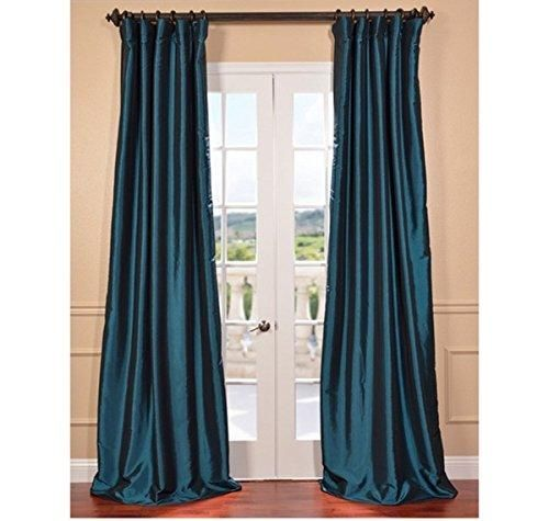 1 Piece 96 Inch Mediterranean Color Rod Pocket Curtain Single
