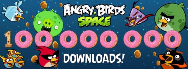 Angry Birds Space comemora a marca de 100 milhões de downloads