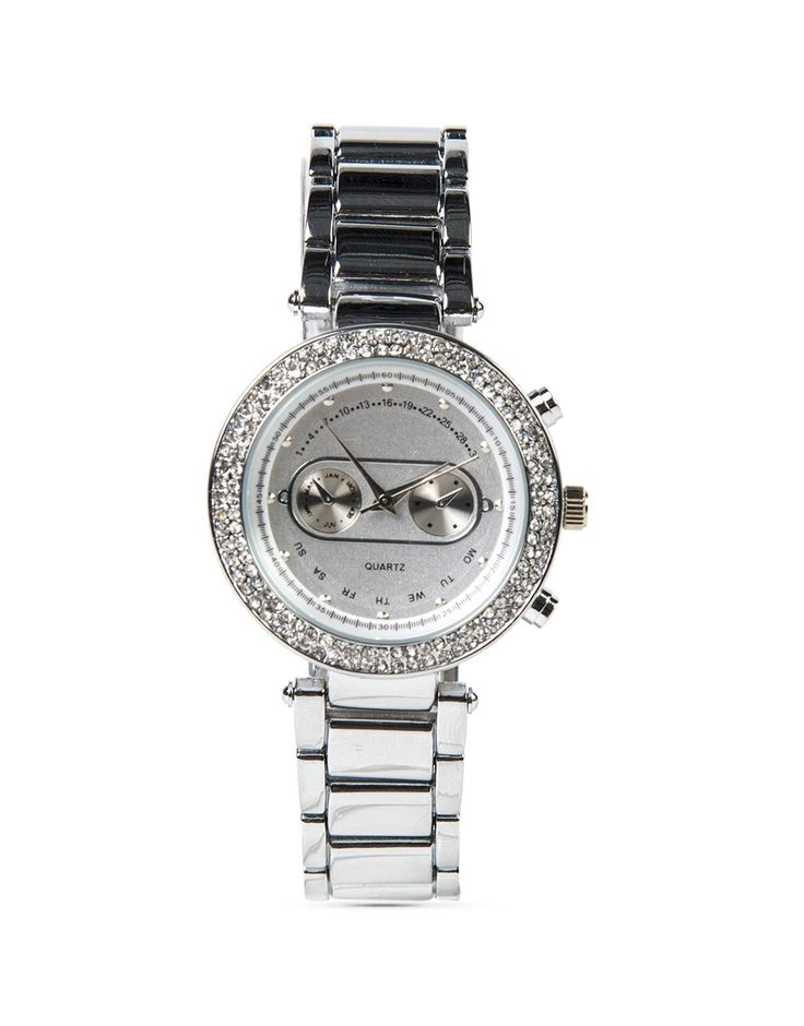 Round Diamanté Watch