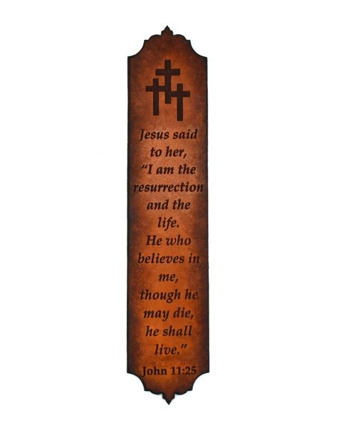 Personalised Religious Bookmark with Cross Shape for Page finding in Birchwood