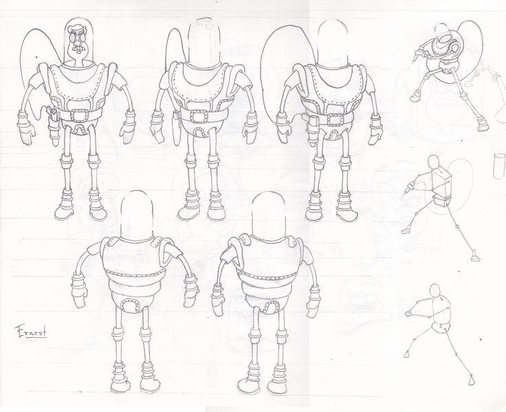 Curso sobre creacion de personajes / Mecánico espacial.