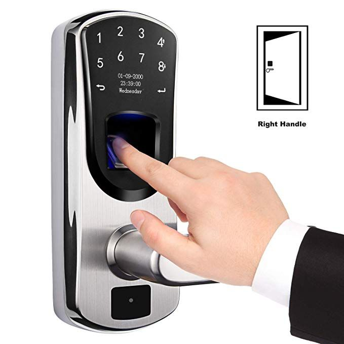 Amazon Com Wejupit Fingerprint Smart Keyless Entry Door Lock With Touchscreen Code Electronic Keypad For O Fingerprint Door Lock Door Locks Keyless Door Lock