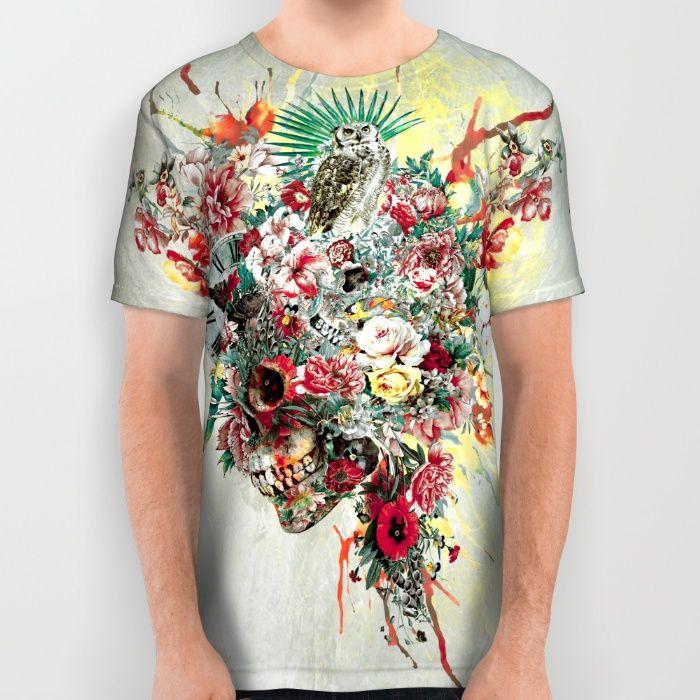 SKULL IV All Over Print Shirt #skull #women #men #fashion #moda #animals