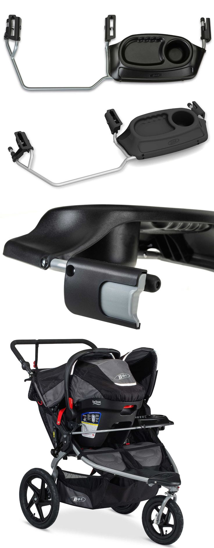 Cup Holders and Snack Trays 180913: Britax Bob Duallie Infant Car Seat Adapter Travel System Snacks Tray Cup Holder -> BUY IT NOW ONLY: $140.99 on eBay!