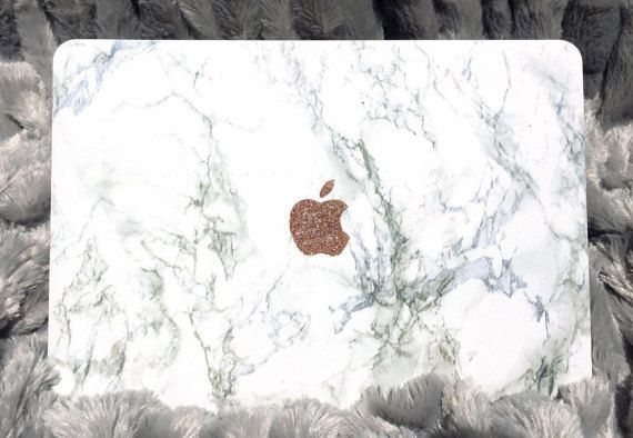 SALE Marble MacBook Hard Case with Glitter by LindsayAnnCreations  #marble #marblemacbook #macbook #glitter #macbookcase #marble case #etsy
