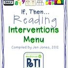 """A researched-based RtI Intervention packet - """"If.....Then..."""" (I rarely pin tpt or tn things, but this is worth the effort to visit the site and download...and, it's free, too!)"""