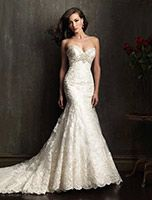 Allure wedding dress 9051 at Glamourous Gowns.