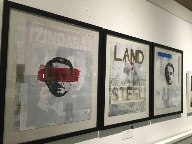 'Land Steel' Silk screen on Fabriano 2015