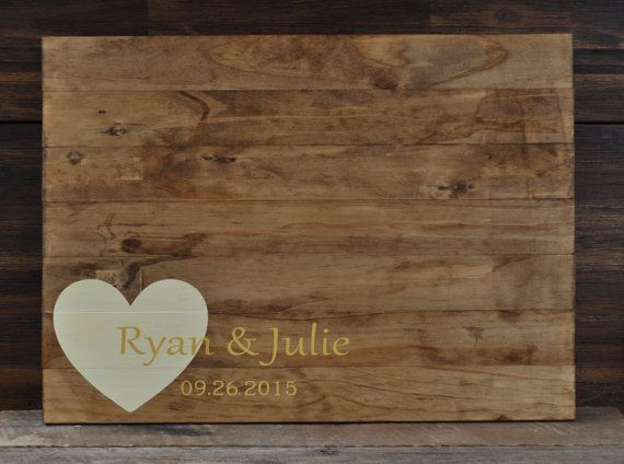 Rustic Wedding Guest Book Alternative / The by TheRusticEarth