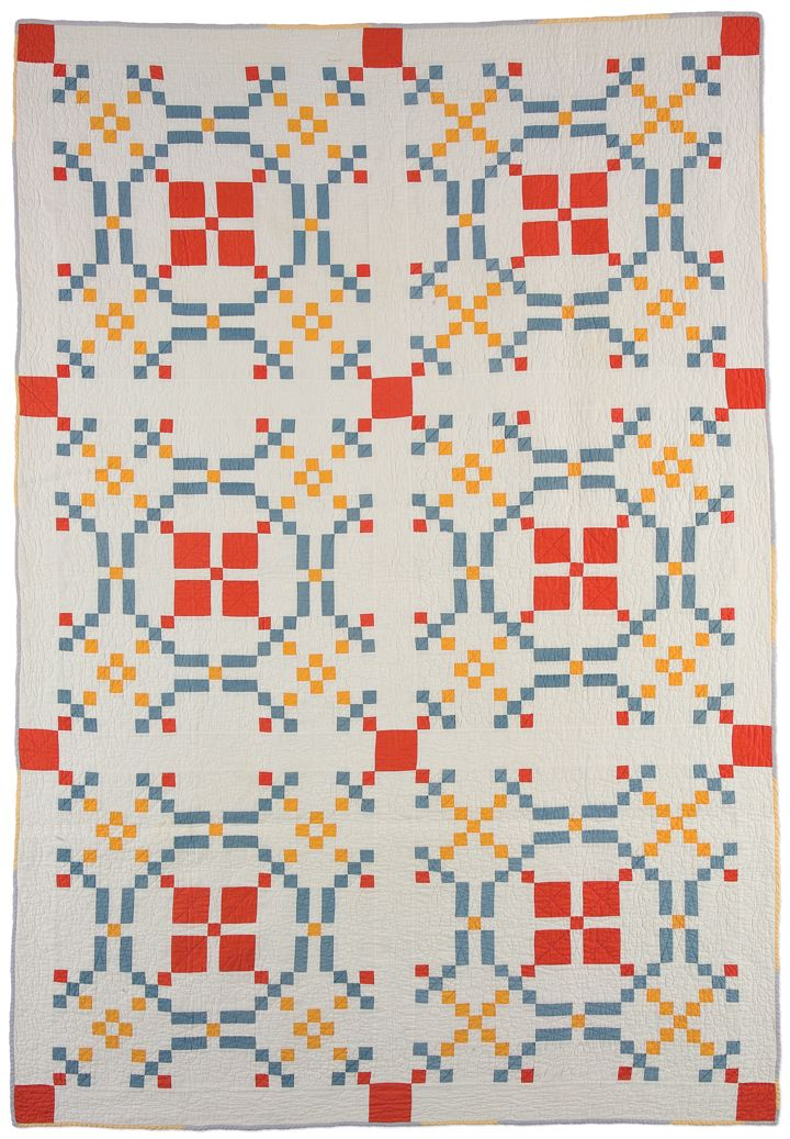 Burgoyne Surrounded, maker unknown, 1935-1945, possibly made in West Virginia, machine pieced, hand quilted, 84 x 58 inches, IQSCM 1997.007....