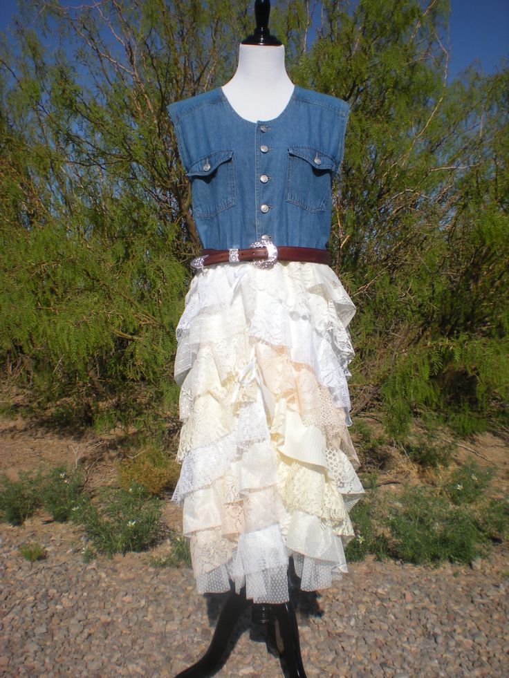 81 best images about jessie 39 s wedding on pinterest denim for Western cowgirl wedding dresses
