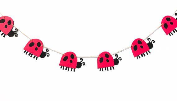 Ladybug Banner | Ladybug Garland | Ladybug Decoration | Ladybug Decor | Picnic Decor | BBQ Decor