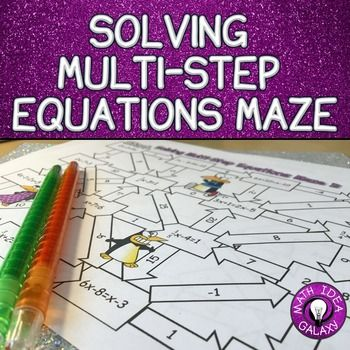 This maze activity helps students practice solving multi-step equations, including some with fractions and negative integers. An engaging way to get students practicing & great as bell work, classwork, or homework.