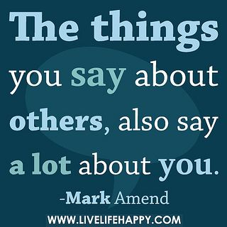 The things you say.........