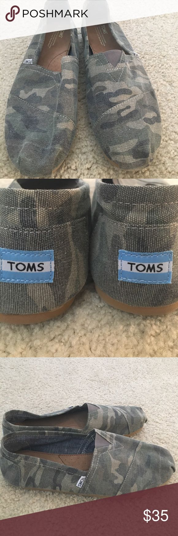 NEW Men's Camo TOMS - Size 13 Brand new Men's camouflage TOMS. Size 13. Trendy for the Spring and Summer! HOT look. #mensstyle #GQ TOMS Shoes Loafers & Slip-Ons