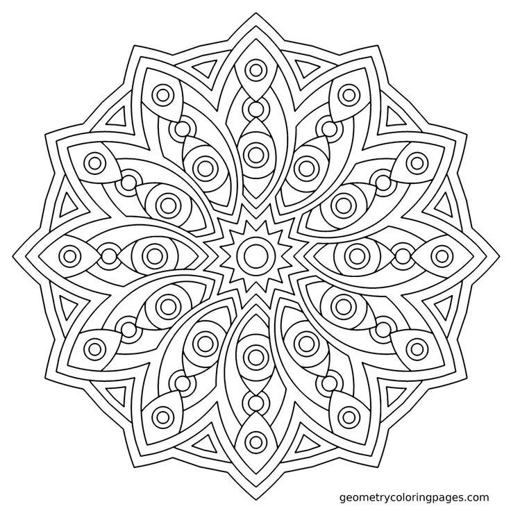 Charmant Blumen Mandala Malvorlagen Fortgeschrittene Ebene Fotos ...