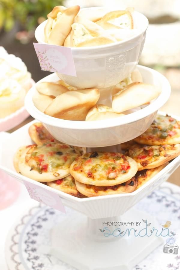 Shabby Vintage High Tea Bridal Shower   Yummy tea food