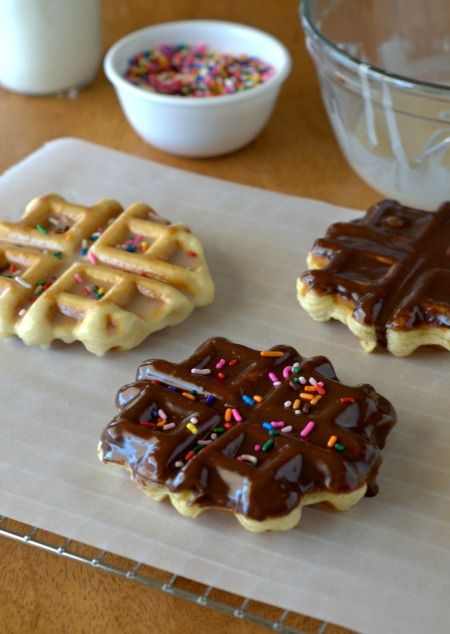 Doughnut Waffles! Baked in the waffle iron. No deep-frying required!