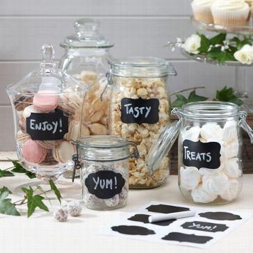 Sticker zum Beschriften der Gastgeschenke oder der Candy Bar auf der Hochzeit - Jetzt nachsehen bei weddix.de