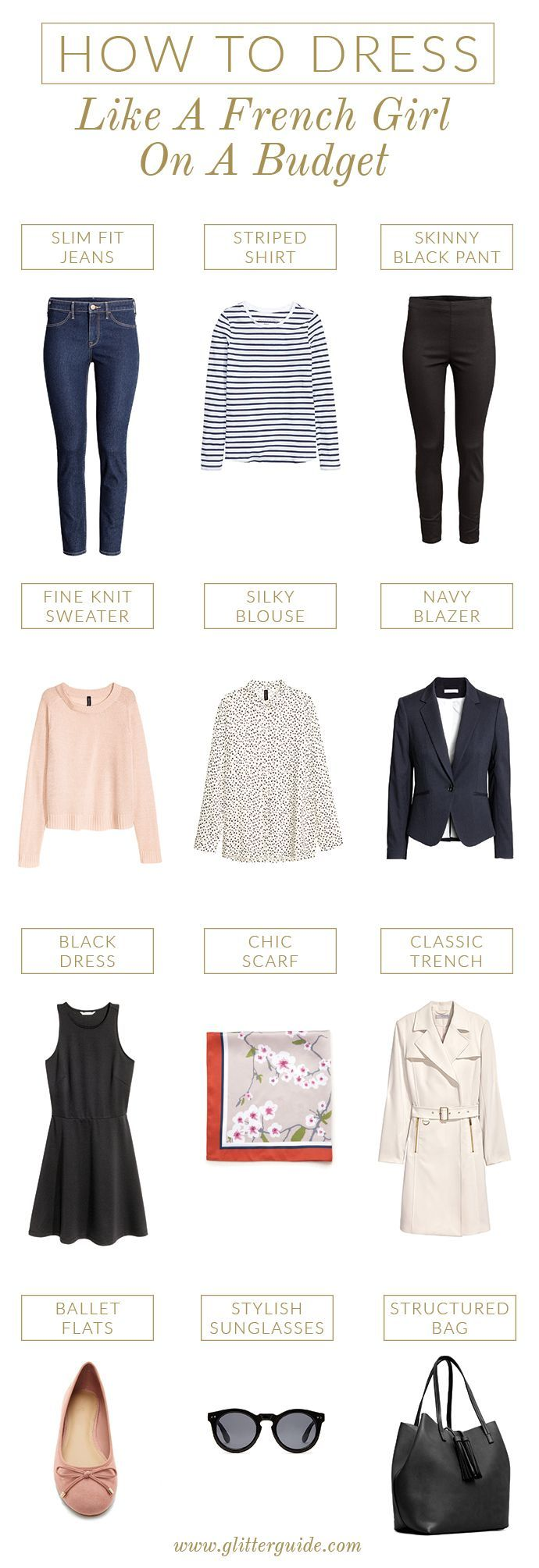 How To Dress Like A French Girl On A Budget | Glitter Guide