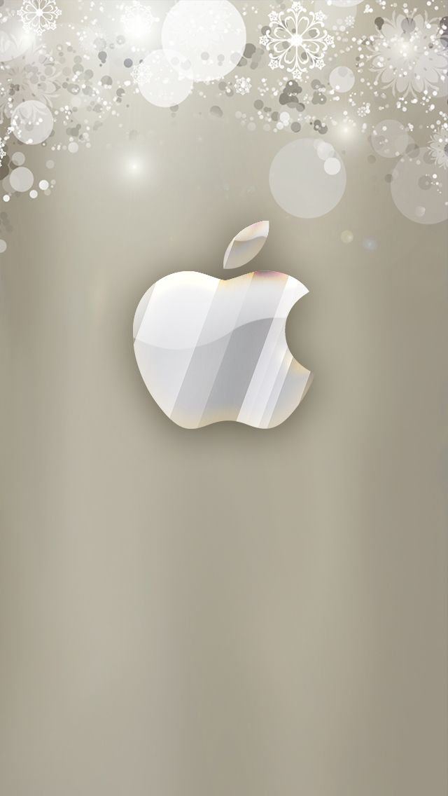 Snowflakes Apple iPhone wallpaper