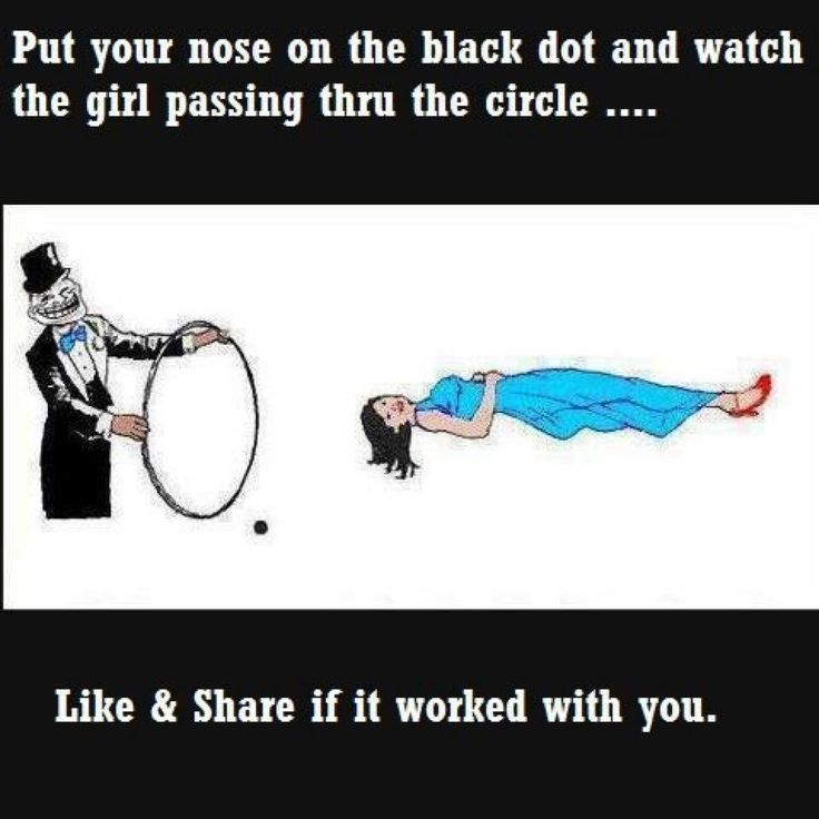 Optical illusions..holy crap it works!! i had to lean way up to my screen to do it but it is so cool!!