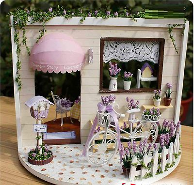 Lavender Story Rose Garden Wooden Dollhouse Miniature DIY Musicbox Dustcover | eBay