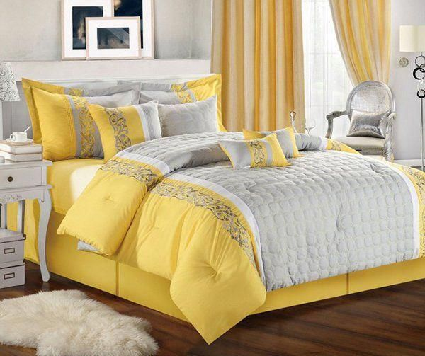 Yellow Curtains And Duvet Sets, Bedding And Curtains
