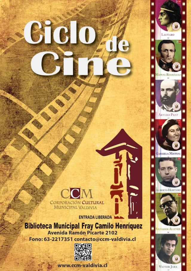 """CICLO DE CINE Biblioteca Municipal Valdivia """"GRANDES CHILENOS"""""""