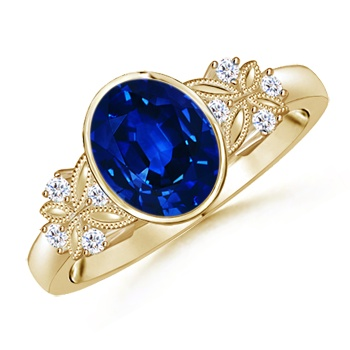 Angara Ceres Carved Shank Tanzanite Vintage Ring
