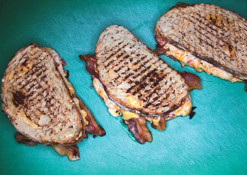 5 Steps to the Ultimate Grilled Cheese: Pimiento Cheese, Ultimate Grilled, Cheese Dips, Pimento Cheese, Grilled Chees Sandwiches, Chees Dips, Bacon Grilled Cheese, Bon Appetit, Grilled Cheeses