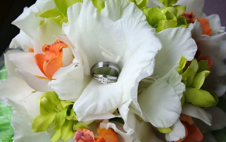 Bouquets Gladioli Flower Petals Wedding Ceremony Beautiful Flowers