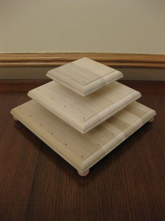 Square  Tiered Cake Stand